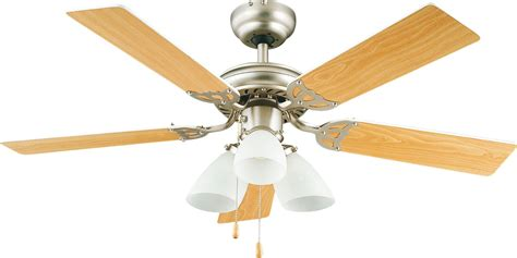 Ceiling Fan Lights B Q Pero Stainless Steel Effect Ceiling Fan Light Departments Diy At B Q