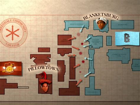 Community Pillows And Blankets by Map Of Greendale Cus Community