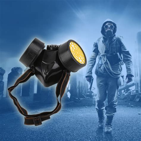 Masker Chemical black gas mask emergency survival safety respiratory gas