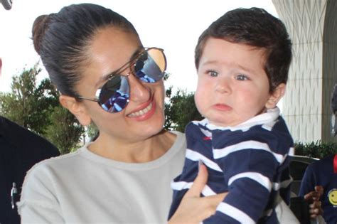 karina kapoor with son pic kareena kapoor khan s son taimur is in tears and his pics