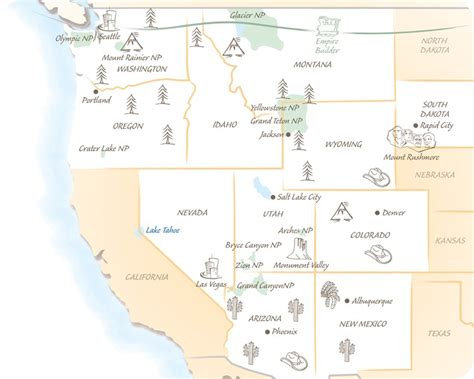 west coast map of usa west coast usa holidays trailfinders