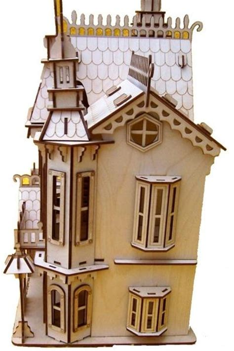 victorian dolls house kits victorian doll house kit by cutting light cutting light custom laser engraving