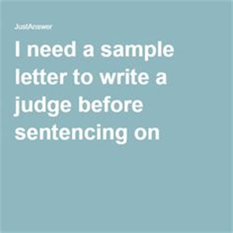 Sle Character Letter To Judge Before Sentencing