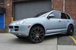 Porsche 22 Inch Rims 4 Gwg Wheels 22 Inch Black Machined Flow 22x9 Rims Fits