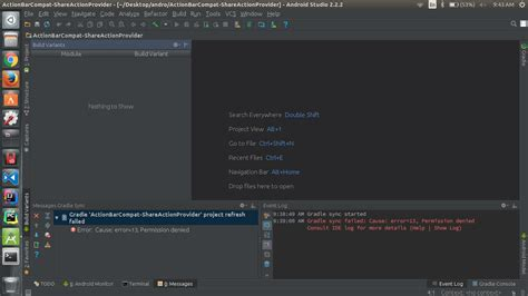 android studio refresh layout java project refresh failed android studio ubuntu