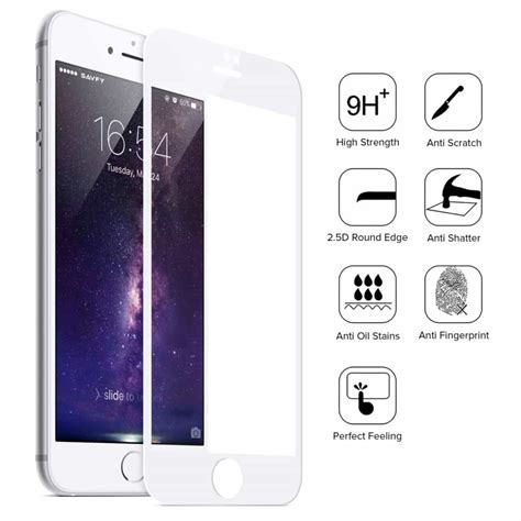 Tempered Glass Iphone 7 7 Plus Screen Guard Protector Anti Gores 2 pack iphone 7 plus tempered glass white screen protector