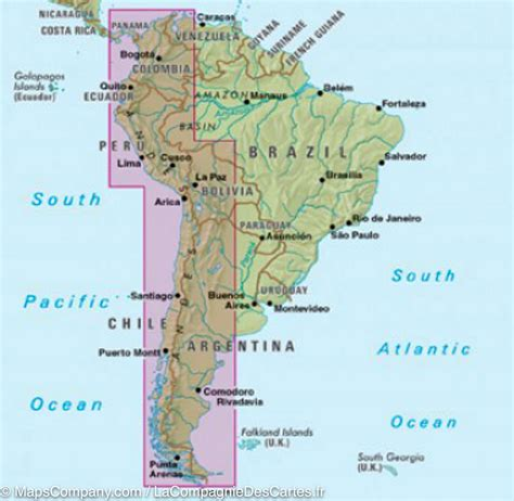 andes mountains map map of the andes south america nelles map maps company