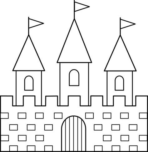 castle outline coloring page colorable castle line art free clip art
