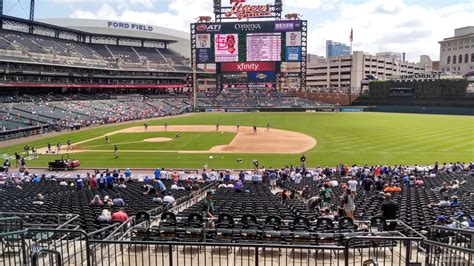 section 120 comerica park comerica park baseball seating guide rateyourseats com