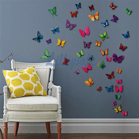 butterfly home decor 12 pcs 3d butterfly wall stickers decal home room