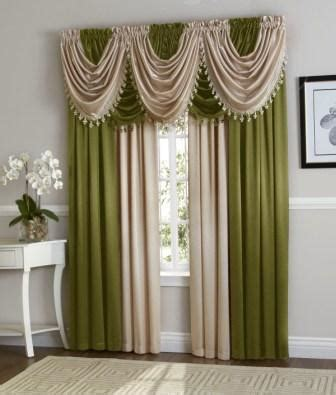 Beige And Green Curtains Decorating Green Beige Hyatt Curtain Set Moshells