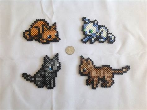 perler bead cat cats from the legend of the minish cap set of 4