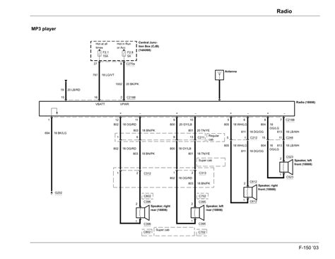 electrical diagram 2003 f150 radio ford forums mustang