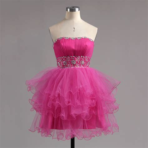 strapless tulle gown with beaded belt strapless pink homecoming dress with beaded belt empire