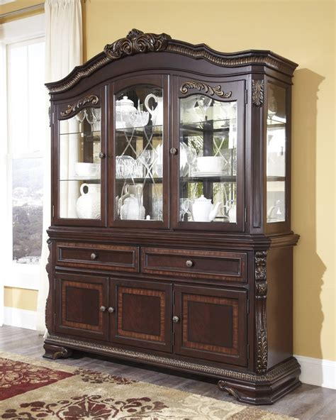 hutch cabinets dining room d678 81 ashley furniture wendlowe dining room hutch