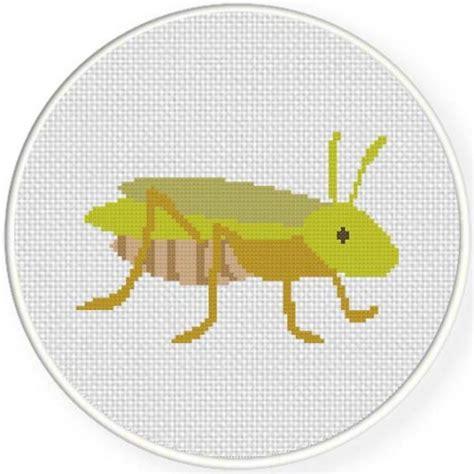 download pattern grasshopper grasshopper cross stitch pattern daily cross stitch