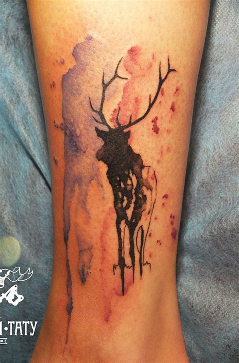 deer watercolor tattoo 48 deer tattoos ideas for