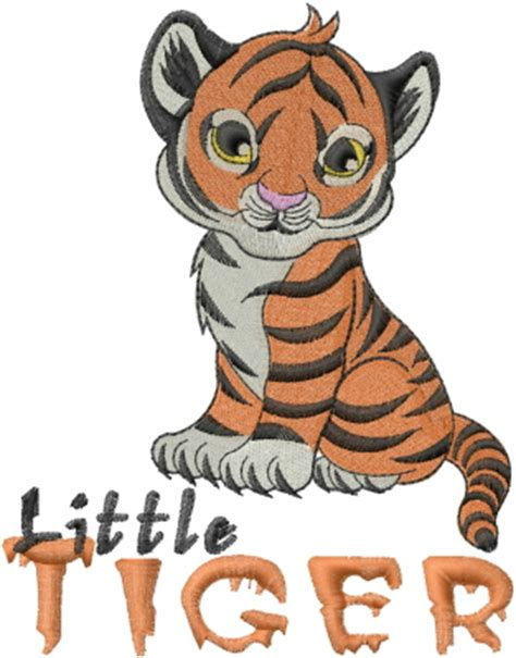little tiger embroidery design annthegran