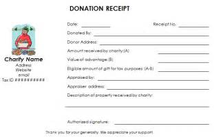 nonprofit donation receipt template