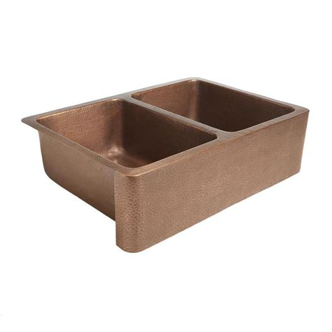 Shop Sinkology Rockwell 22 In X 33 In Antique Copper Farmhouse Copper Kitchen Sink