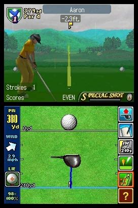 true swing golf true swing golf ds review preview for the nintendo ds nds