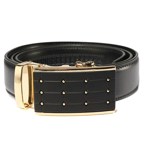 mens adjustable leather belt waist with automatic