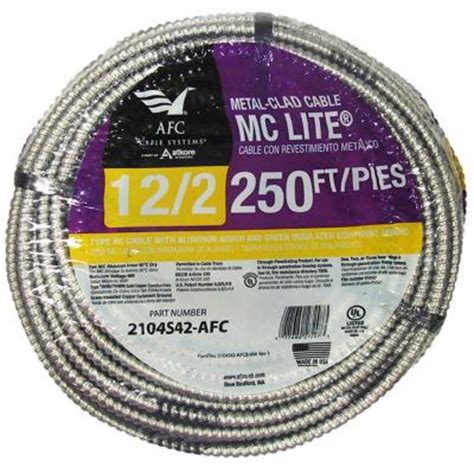 10 3 mc cable by the foot southwire 250 ft 12 2 solid cu bx ac 90 cable 61023101
