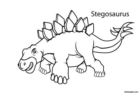 Printable Dinosaur Stegosaurus Coloring Pages Printable Printable Dinosaur Coloring Pages