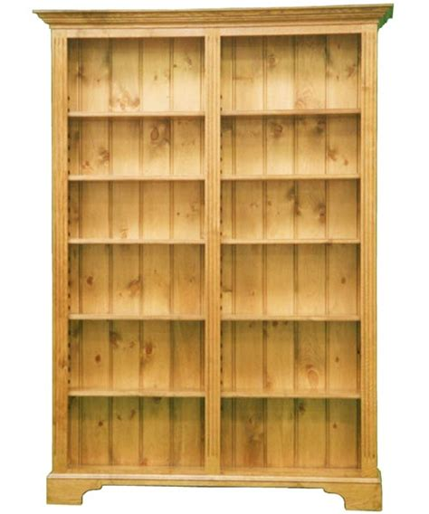 traditional style bookcase with adjustable shelves
