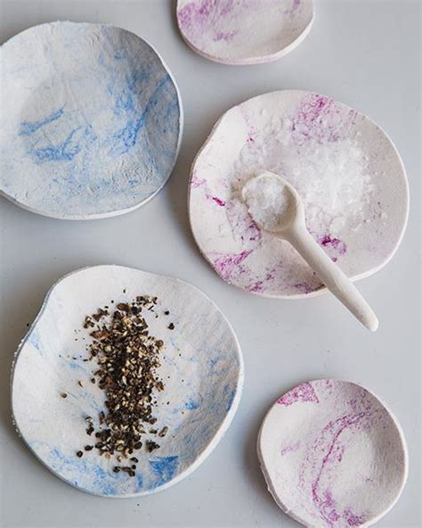 Paper Clay - marbled paper clay bowls sweet paul magazine