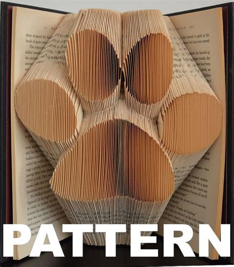 book folding templates book folding pattern large paw print free