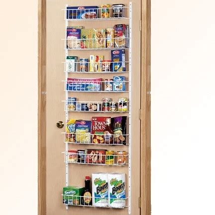 Kitchen Pantry Racks by Pantry Door Rack Organization Storage Closets