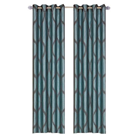 metallic blue curtains eclipse microfiber blackout navy grommet curtain panel 63