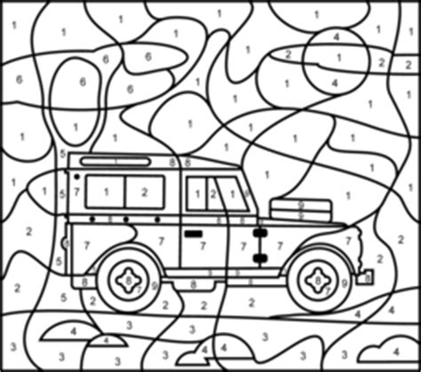 color by numbers coloring book for cars mens color by numbers cars coloring book color by numbers books for volume 1 books jeep coloring page printables apps for