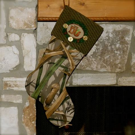 duck hunting christmas stocking mr drake bird