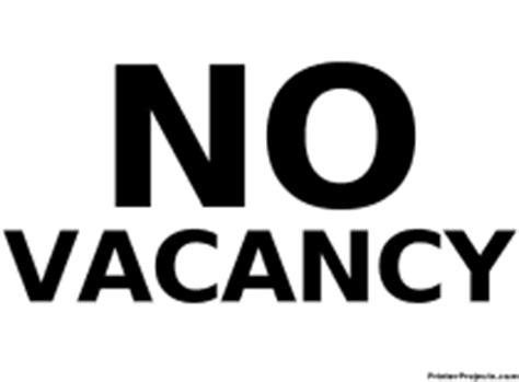 printable signs quot no vacancy quot