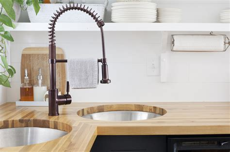 how to install undermount sink in butcher block countertop installing butcher block counters with an undermount sink