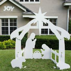1000 Images About Outdoor Nativity Sets On Pinterest Nativity Yard Sign Template