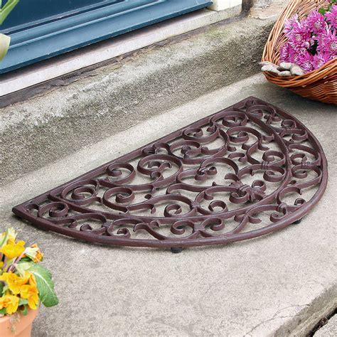 Half Moon Doormat half moon cast iron door mat by dibor notonthehighstreet