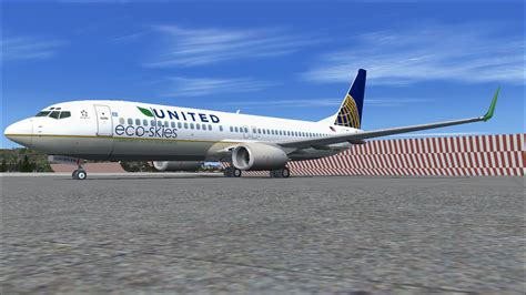 united flight united airlines eco skies boeing 737 800w for fsx