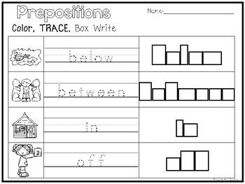 sle of kindergarten writing preposition coloring worksheet kindergarten preposition best free printable worksheets