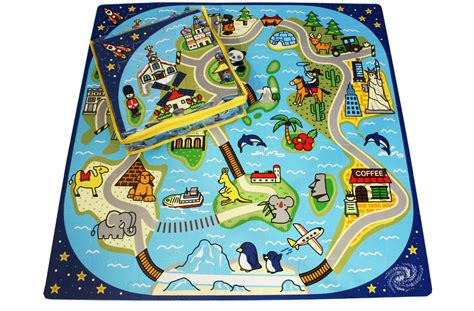 Cobyhaus Playmat Premium Zoo We road trip mat small foam mat for babies and children