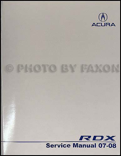 car repair manual download 2007 acura rdx lane departure warning 2007 2008 acura rdx repair shop manual original