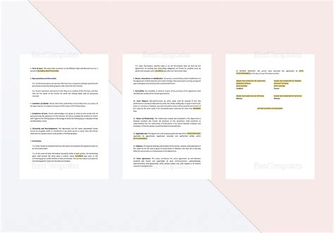 parking lease template parking lease agreement template in word docs