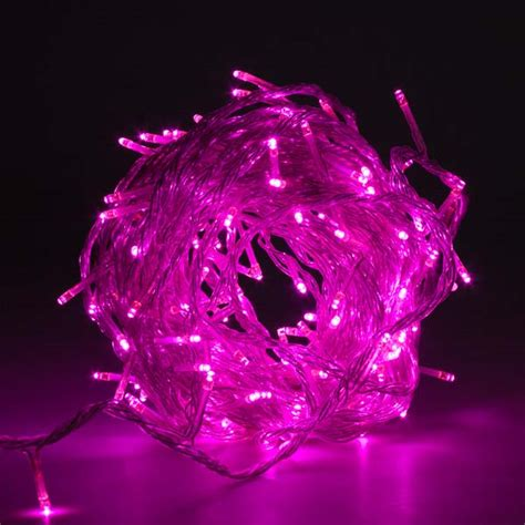 Pink Outdoor Lights Noma 14 32m Length Of 180 Pink Indoor Outdoor Multi Function Low Voltage Led Lights