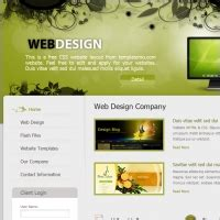 green color website template free website templates for