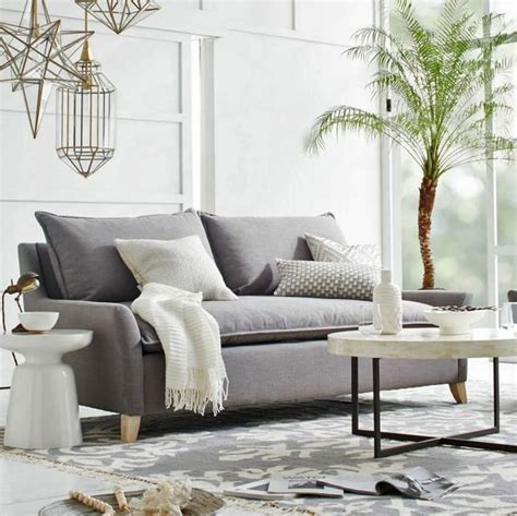 crate and barrel filled sofa d 233 co moderne pour le salon 85 id 233 es avec canap 233 gris