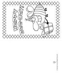 Pages Card Templates Gallery For Gt Happy Birthday Card Coloring Pages For Kids