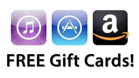 Free App Store Gift Cards - how to get free itunes app store and amazon gift cards youtube
