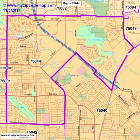 garland texas zip code map zip code map of 75044 demographic profile residential housing information etc